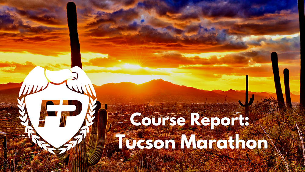 The Downhill Tucson Marathon Course is Brutal.