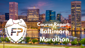 Baltimore Marathon Course Report