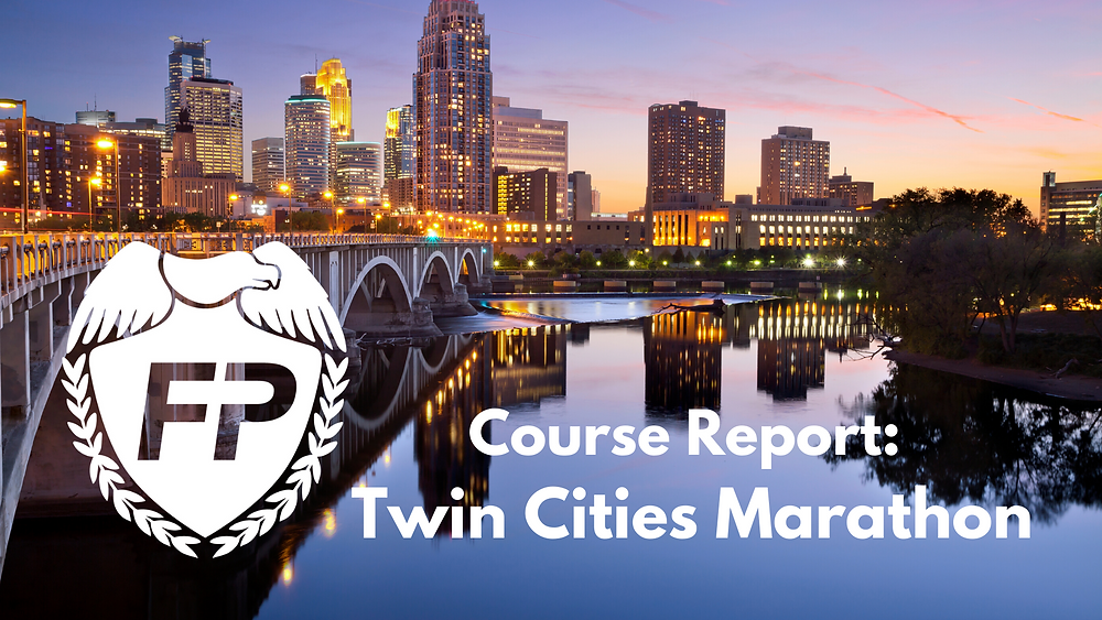 Twin Cities Marathon Course Report Race Strategy