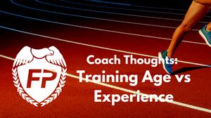 Training Age versus Experience in Marathoners
