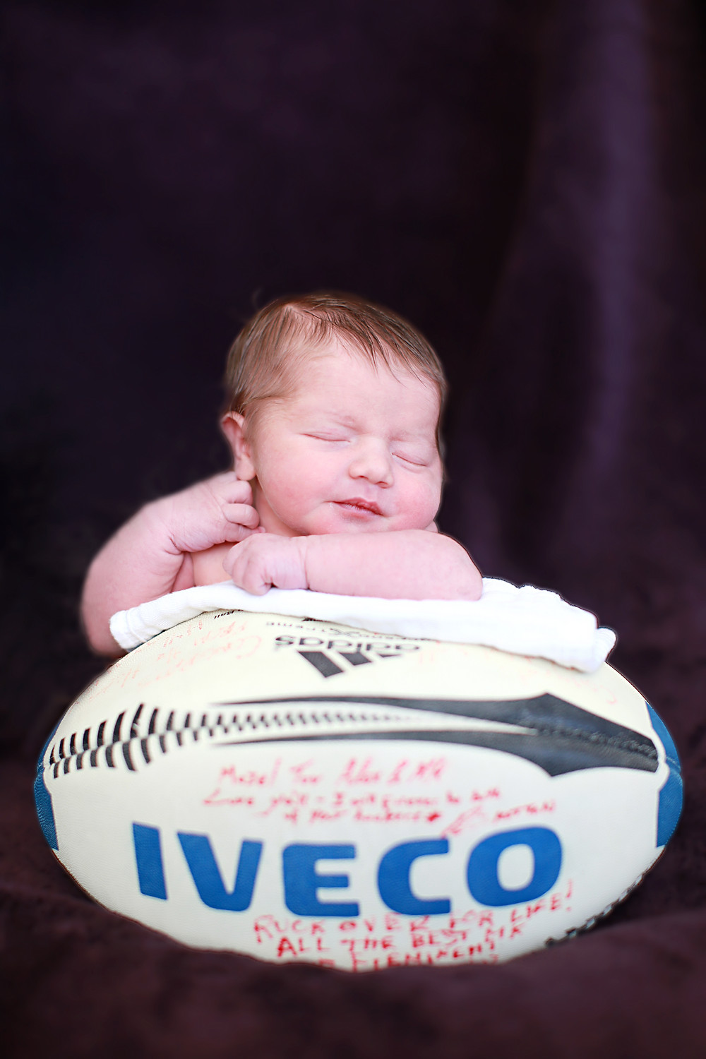 USA Rugby, Fatphobia, Gender and Diversity Issues, rugby ball newborn baby photo
