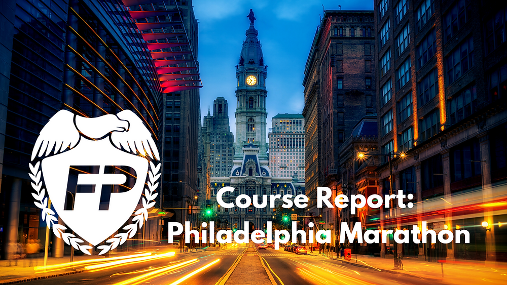 Philadelphia Marathon Course and Strategy