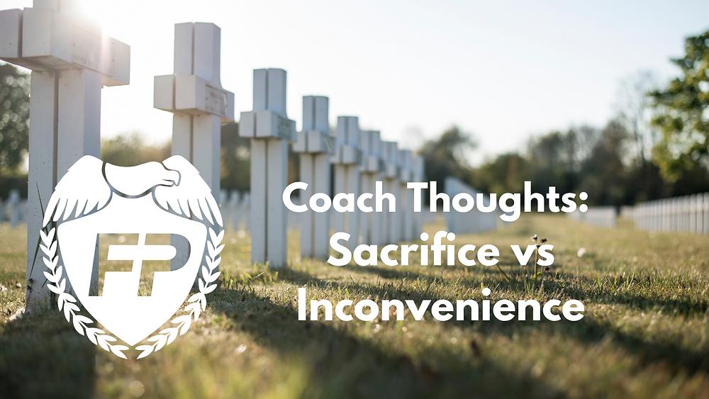 sacrifice vs inconvenience marathon training hard choices
