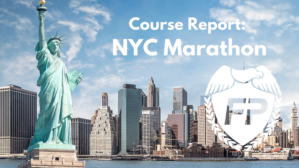 NYC Marathon course strategy report runner