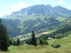 Vue sur village La Giettaz