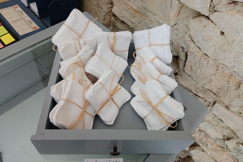LN Carrés coton réutilisables x8