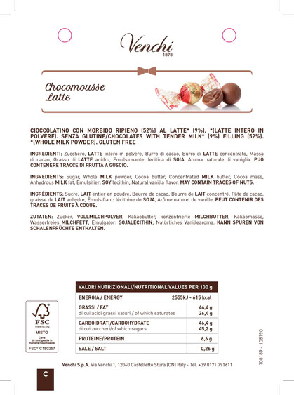 960170 _ SCHEDE INGREDIENTI SFUSO NATALE