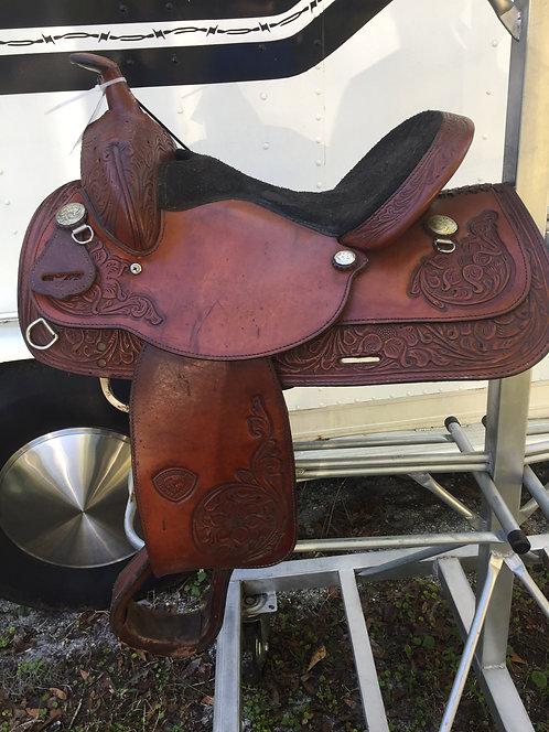 """15"""" Hereford Tex Tan Trail Saddle"""