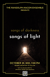 """The Randolph-Macon Chamber Orchestra will present """"Songs of Darkness, Songs of Light"""" on October 29, 2021, as part of R-MC's Family Weekend festivities."""