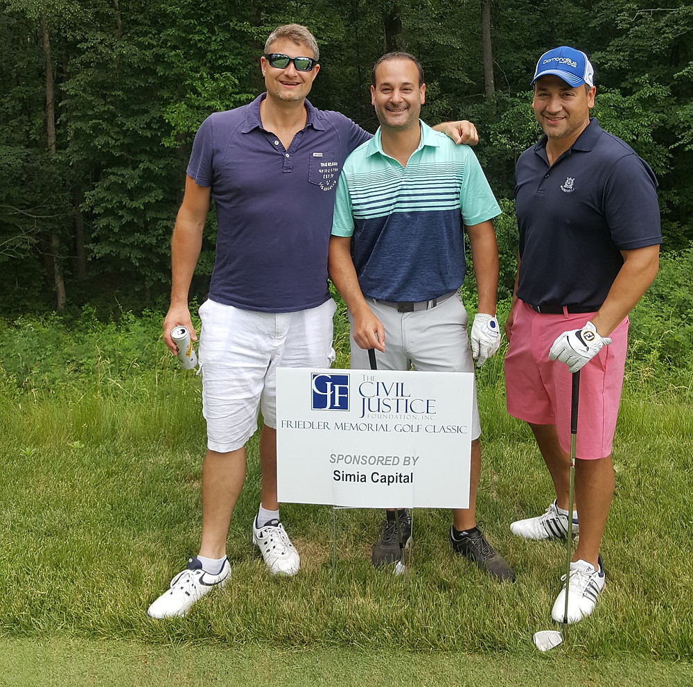 Simia at the CT Trial Lawyers Golf Outing