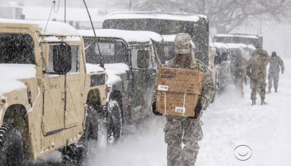 Snow Storm Binghamton Pre-Settlement funding national guard