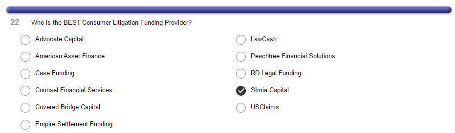 Simia in Texas! Vote for us for best Pre-Settlement Funding firm