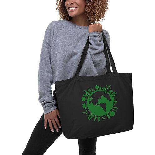 Large organic tote bag