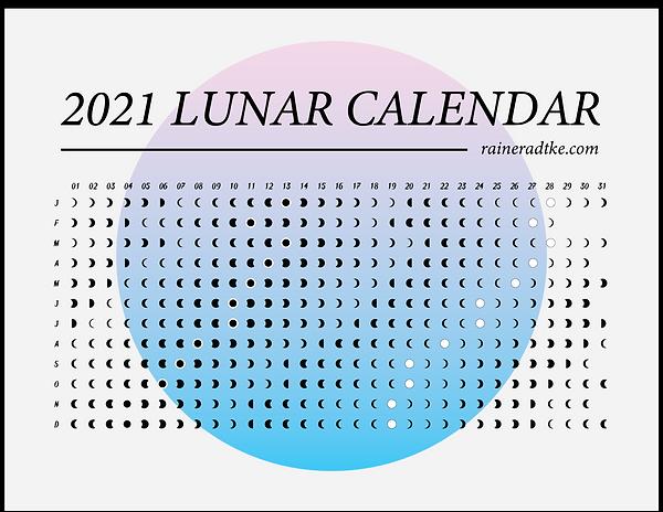 2021 Lunar Calendar Free Download