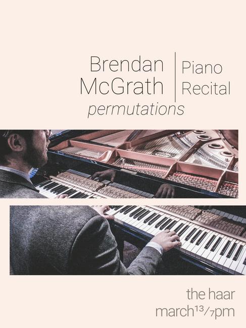 Brendan McGrath Recital Poster
