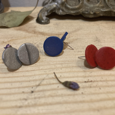 STUDS in Silver, Blue, and Red