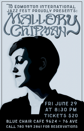 Gig Poster - Mallory Chipman Jazz Fest P