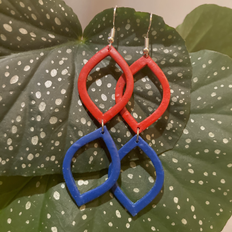Double Leaves in Red & Blue