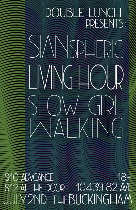 Gig Poster - Slow Girl Walking