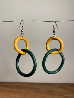 Forest Green & Mustard Loops