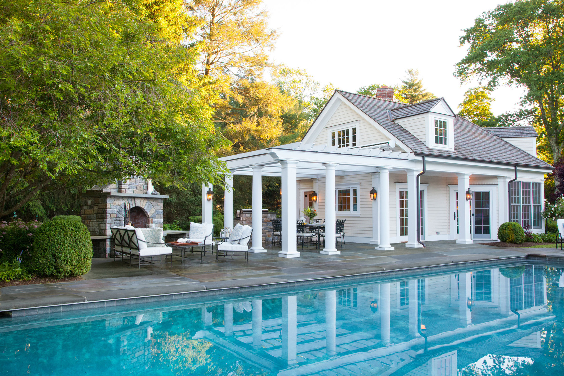 New Canaan Classic Pool House