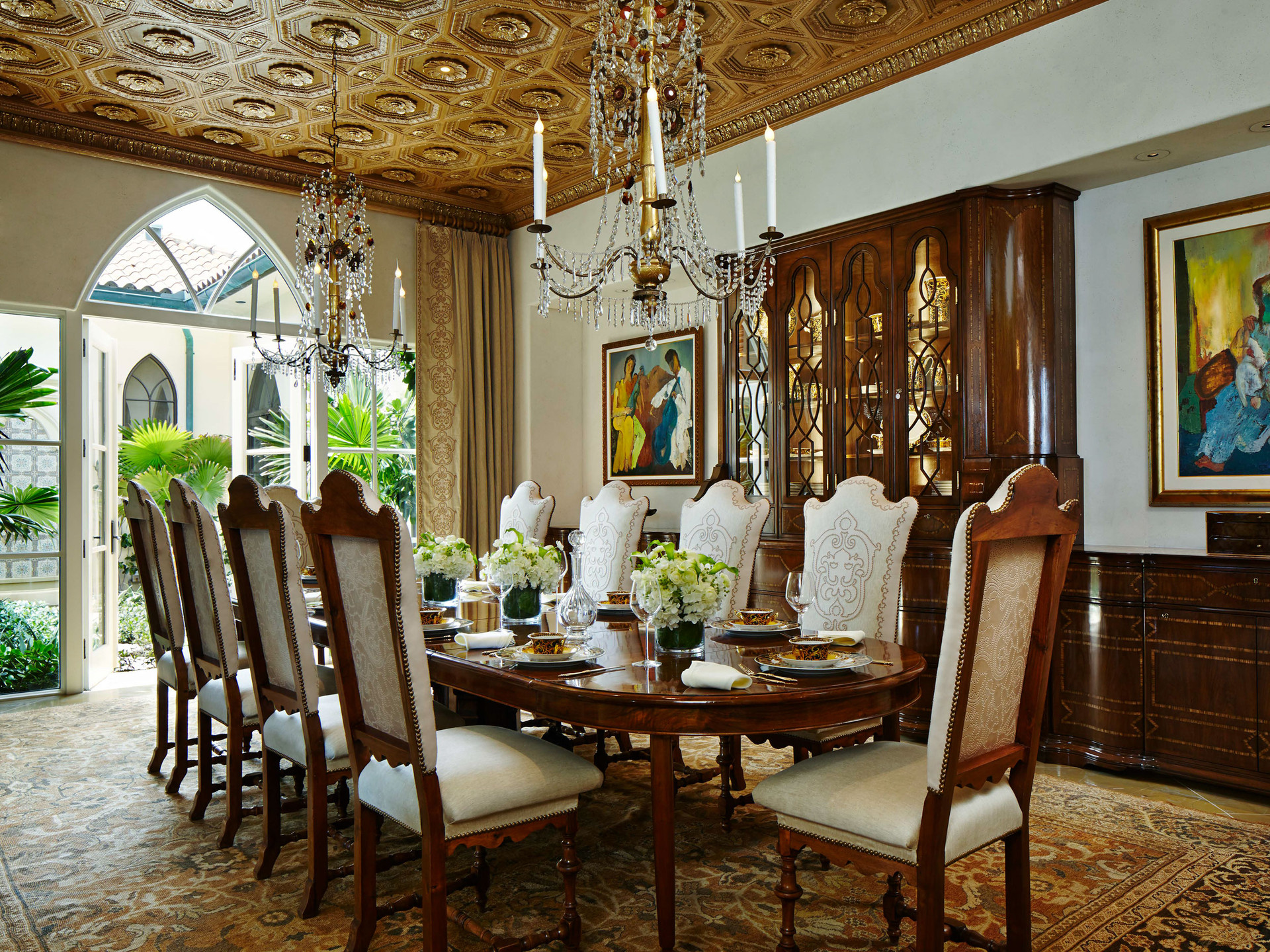 South Palm Beach Estate Dining Room