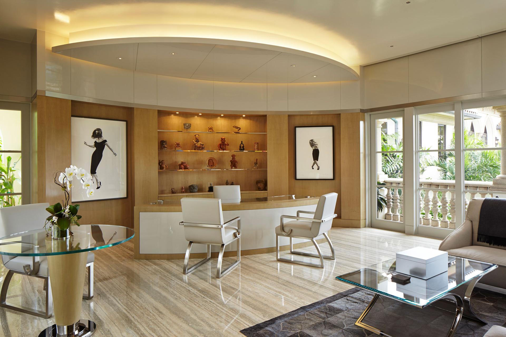 South Palm Beach Estate Home Office