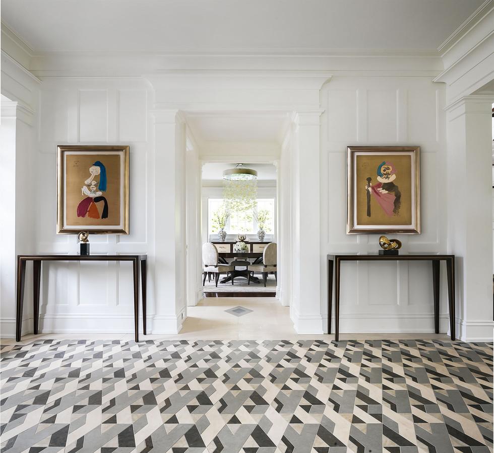 Belle Haven Colonial Foyer