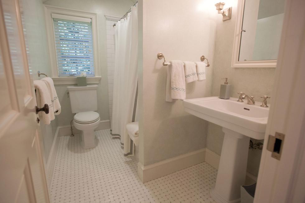 New Canaan Classic Pool House Bathroom