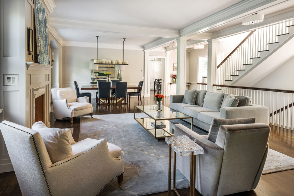 Riverside Colonial Living Room