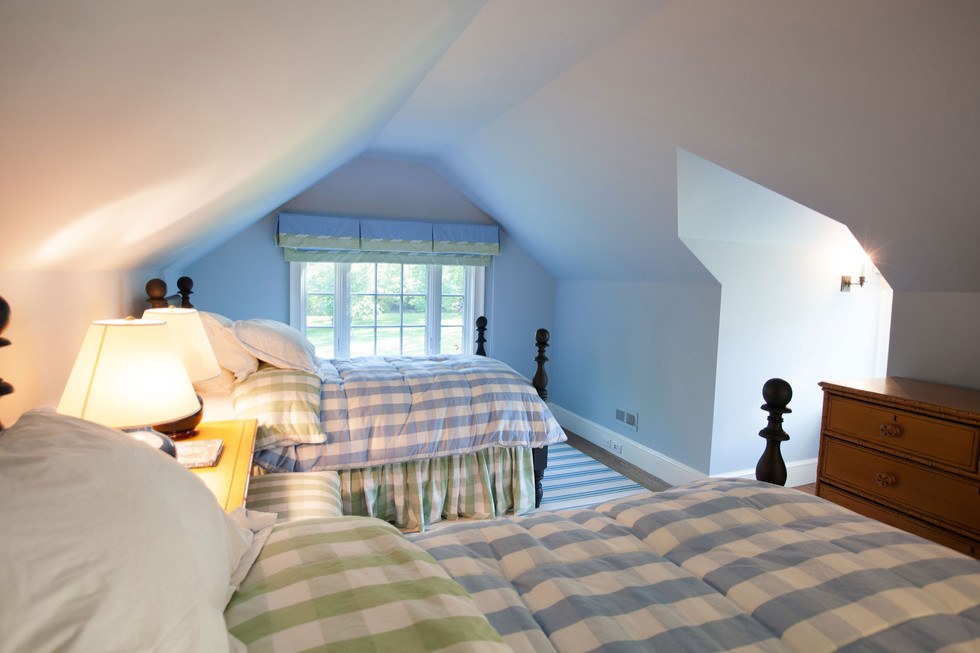 New Canaan Classic Pool House Bedroom