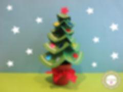 Árbol de Navidad en cartulina