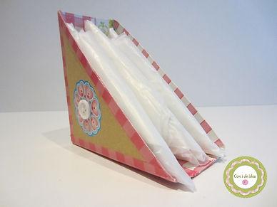 Porta bolsas  de cartón
