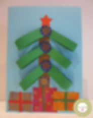 Tarjeta árbol de Navidad