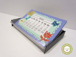 Calendario Scrapbook con cassette