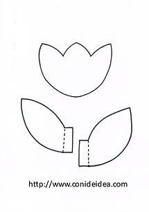 Plantilla Tulipán