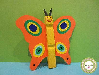 Mariposa con pinzas de la ropa