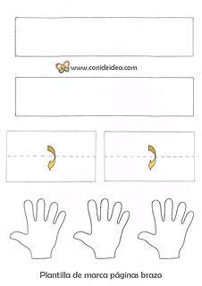 Marca páginas brazo