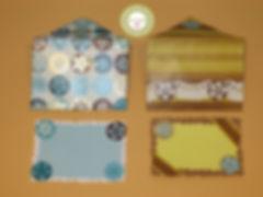 Tarjetas y sobres de Scrapbook