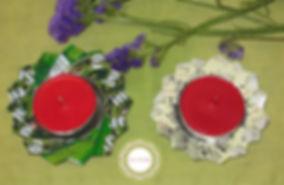 Porta velas con latas de refresco