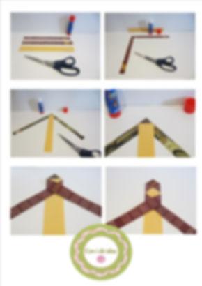Marca páginas de papel trenzado