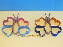 Mariposas con tubos de cartón