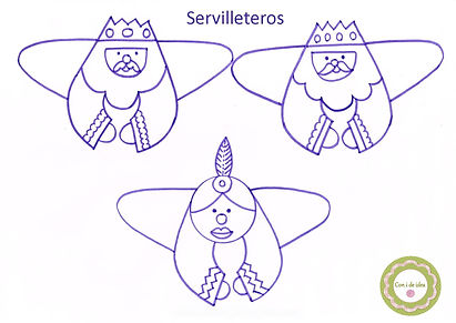 Servilleteros Reyes Magos