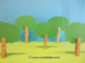 Bosque con pinzas