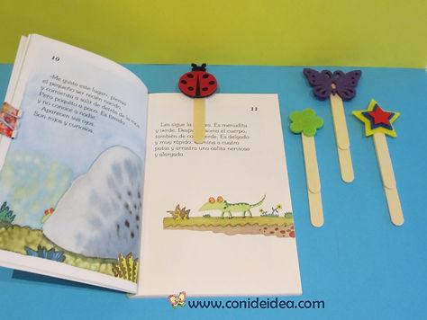 Marca páginas con palos de polo