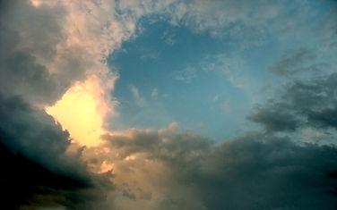 sky, clouds, light, angels