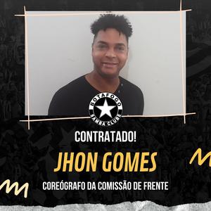 Novo coreógrafo da comissão de frente Jhon Gomes