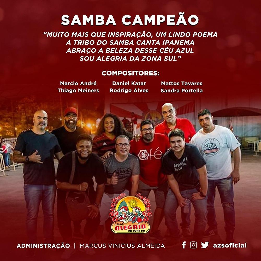 flyer da parceria campeã