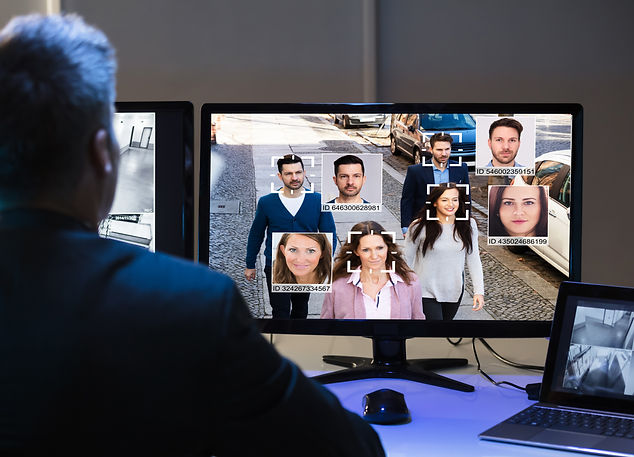 AI Facial Recognition On CCTV Camera Sur