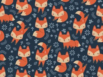 THe cute little fox